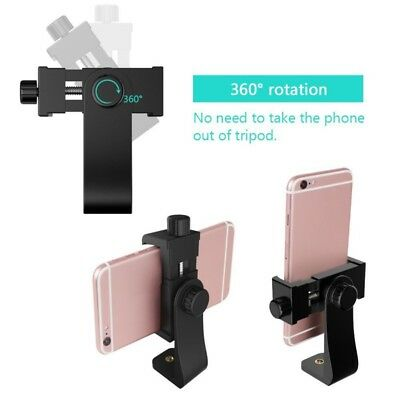 Adjustable Cell Phone Tripod Universal Smartphone Holder Mount Adapter Clips USA