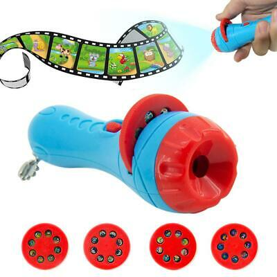 Child Projection Light Baby Sleeping Story Projector Flashlight Colors Animals