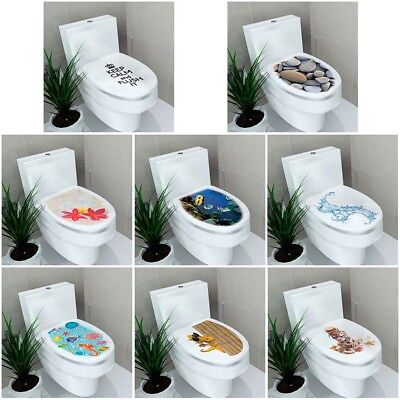 Stereo Toilet Seat Wall Sticker Bathroom Decoration Decal PVC Mural Decor UK