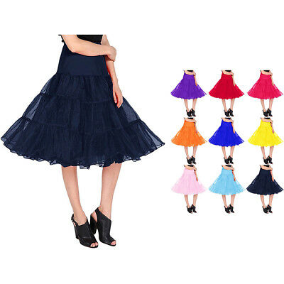 Women's Vintage Petticoat Skirt Tutu 1950s Underskirt for Dress Length 26""