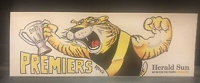 2017 Afl Herald Sun Richmond Tigers Premiership Bumper Sticker