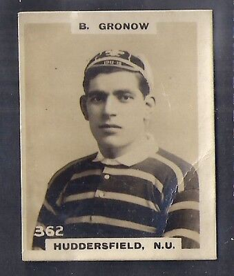 Pinnace Football-Black Oval Back-#0362- Rugby - Huddersfield N.u. - B. Gronow