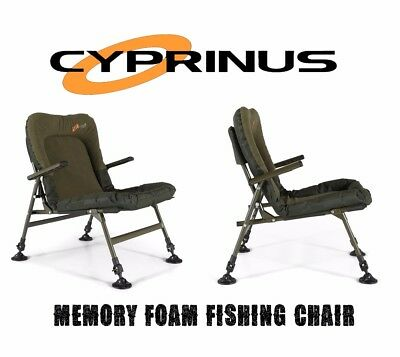 Cyprinus™ Memory Foam Carp Chair With Arms Ultra Padded Fishing Adjustable Legs