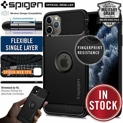 iPhone 11 Pro XS Max X XR Case Genuine SPIGEN Rugged Armor SOFT Cover for Apple