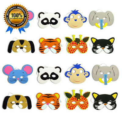 New Funny 10PCS Assorted EVA Foam Animal Masks for Kids Birthday Party Favors Dr