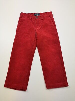 Childs Corduroy Red Ralph Lauren Polo Jeans Co. Jeans Size 3 Straight Fit Kids