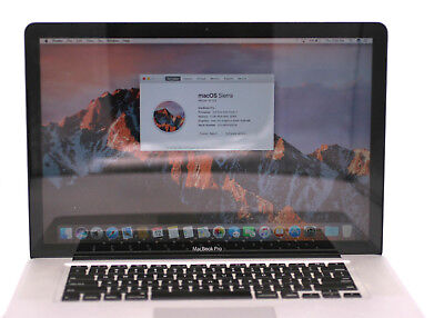 Apple Macbook Pro MC723LL/A A1286 15.4in 750GB HHD 2.6Ghz Intel Core i7 4GB DDR3