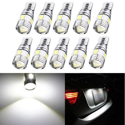 4/10x T10 5630 LED W5W Canbus Error Free Car Tail Side Wedge Parking Light Bulb