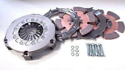 "TTV Racing 7.25"" 184mm twin Plate Race Clutch 6 Paddle"