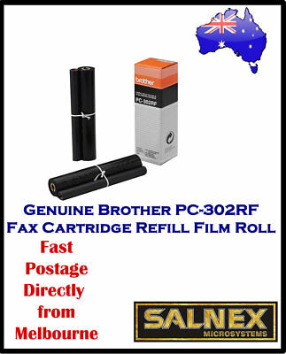 Genuine Brother Pc-302Rf Fax Refill Film Roll -2 Pack In Box