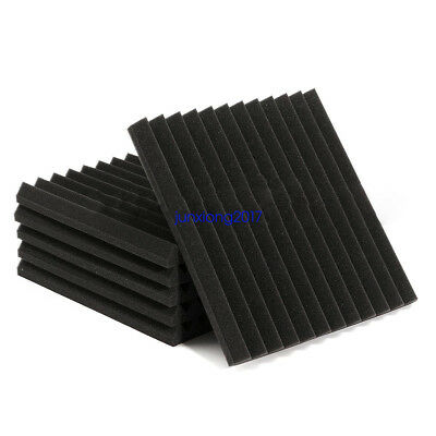 """6PACK 12""""X 12""""X1"""" Acoustic Foam Panel Wedge Studio Soundproofing Wall Tiles"""