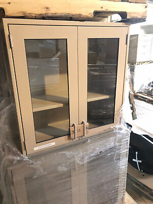 "FIsher Hamilton, Lab Casework Overhead Cabinet, Light Brown, 30""x30""x12"" deep"