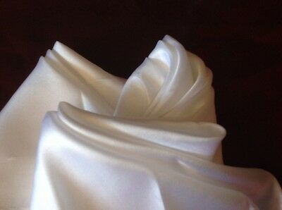 "SET of 3 WHITE  16"" x 16"" (40cm x 40cm) ALL  SILK POCKET SQUARE; NEW and SEALED"