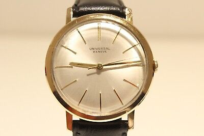 "Vintage Classic Gold Plated Men's Swiss Mechanical Watch ""universal Geneve"" 17J."