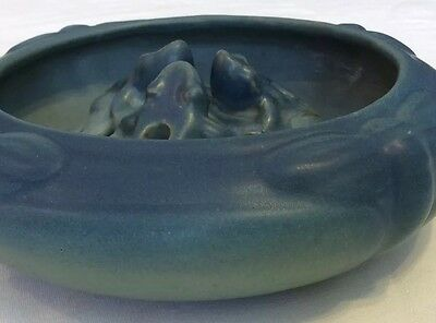 Van Briggle, Turquoise Colored, Dragonfly Bowl & Three Frog - Frog, In VGC