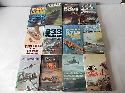 Job Lot of 12 Classic Vintage War P'Backs 60s/70s/80s Acceptable  to Very Good