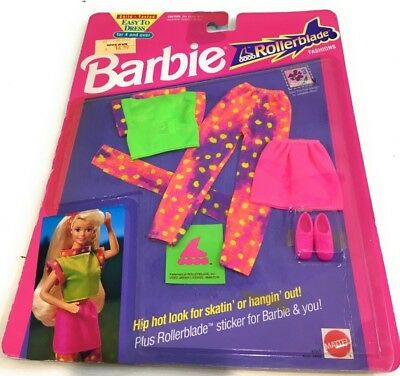 Mattel Barbie Doll 1991 Roller Blade Fashion Outfit Clothes #4849 Nip