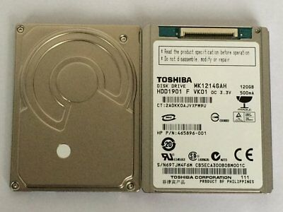 "HP 488587-001 MK1214GAH 465896-001 120GB 4200 RPM 100MBPS SATA 1.8/"" Hard Drive"