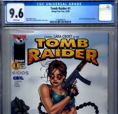 PRIMO:  TOMB RAIDER #1 NM+ 9.6 CGC 1st Lara Craft title Eidos Top Cow comics
