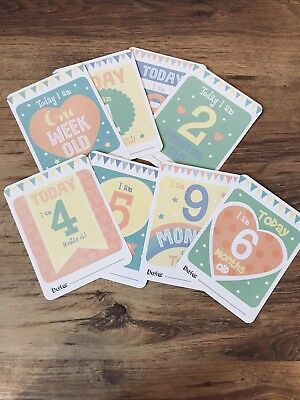 NEW sealed 24 pack of unisex baby milestone cards. Baby shower or newborn Gift