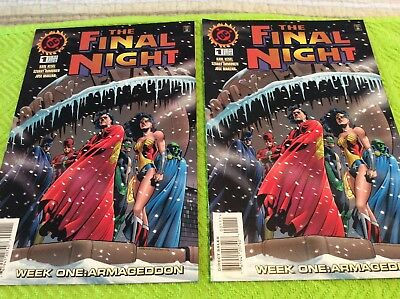 Set of 2 DC Comics The FINAL NIGHT #1 NM Unread Gems. Batman Superman Flash