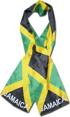 "Jamaica Jamaican Country Lightweight Flag Printed Knitted Style Scarf 8""x60"""