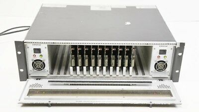 Evertz 7700FR-C 3RU w/ (10) 7700VMDA SDI Reclocking Monitoring DA - 2x PS