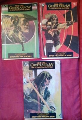 Green Arrow The Longbow Hunters Set #1 2 3 Mike Grell VF!