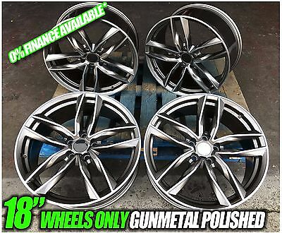 "18"" Audi Rs6 Twin Style Alloy Wheels To Fit Audi,seat&vw 5X112 Pcd (New)"