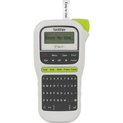 Brother PT-H110 P-Touch 110 LCD Handheld Thermal Transfer Label Maker QWERTY Key