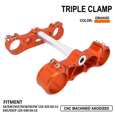 Triple Tree Clamps Steering For KTM SX SXF XCW XCFW EXC EXCF 125-530 Motorcycle