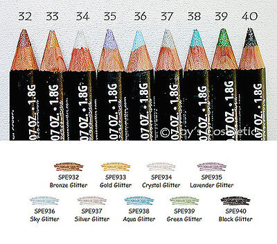 "9 NYX Slim Eye Pencil / Eyeliner - SPE ""Glitter Full Set "" Joy's cosmetics"