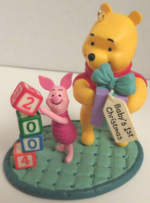 Hallmark Ornament 2004 Baby's First Christmas Winnie the Pooh and Piglet  NEW