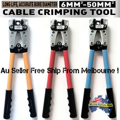 6 - 50 mm² Cable Crimper Anderson Plug Wire Crimping Tool Electric Tube Lug Hex