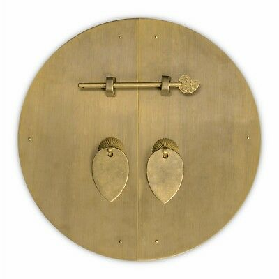 """Chinese Brass Harware Classic Round Cabinet Face Plate 11"""" Beautiful"""