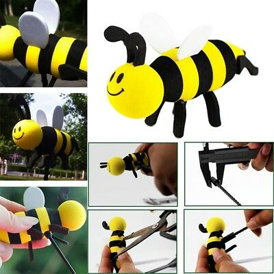Cute Car Antenna Toppers Smiley Honey Bumble Bee Aerial Ball  Vehicle Roof Decor