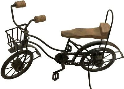 Antique Collectible Old Cab Showpiece Décor Solid Iron Cast Bicycle Toy IC 09