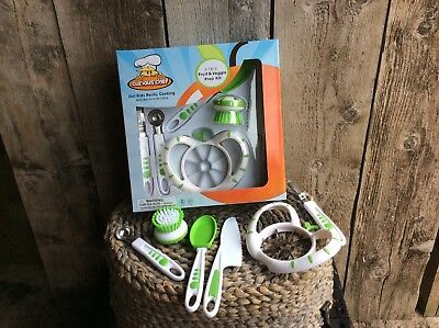 Curious Chef Child's Fruit and Veggie Prep Kit
