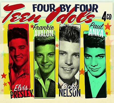 """Teen Idols"" Elvis Presley, Frankie Avalon, Ricky Nelson, Paul Anka [4CD Box Set"