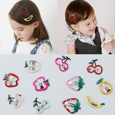 Cute Cartoon Fruit Strawberry Cherry Hair Clips Hairpins For Baby Kids Girls