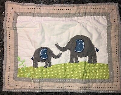 Pottery Barn Baby Nursery Brooks Elephant Small Quilted Pillow Sham New