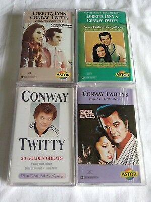 4 CONWAY TWITTY CASSETTES Bulk Lot!