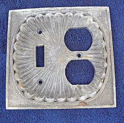 1974 fancy electrical switch plate OUTLET SWITCH COMBINATION cover kitchen bath
