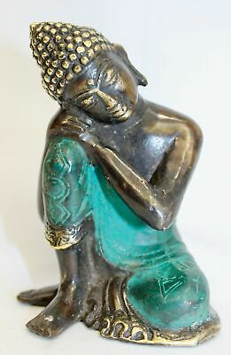 Thinking Buddha Statue Solid Bronze lost wax cast sculpture Balinese art