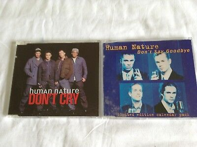 2 Human Nature Cd Singles - Don't Cry & Don't Say Goodbye