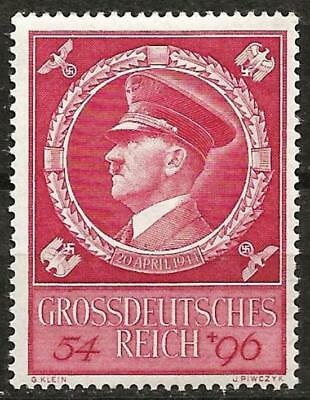 Germany (Third Reich) 1944 MNH - Hitler's 55th Birthday - Mi: 887 SG: 875