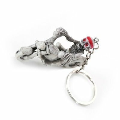 Skeleton Riding Motorcycle Rubber Keyrings Key Chains Holder for Car Purse GT
