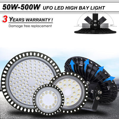 UFO LED High Low Bay Light 500W 300W 200W 100W 50W Factory Warehouse Lighting