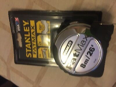 Stanley STA533891 FatMax Tape Measure 8m 26ft 5-33-891 new