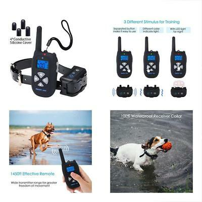 Dog Training Collars Collar Waterproof Rechargeable 1450ft Remote, Electric Bark